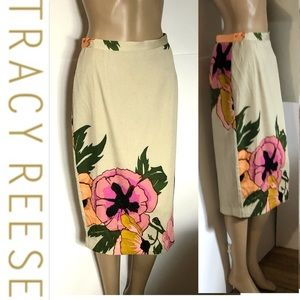 Tracy Reese Large blossom Pencil Skirt